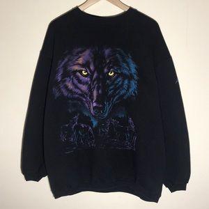 🔥Vintage 1990s Wolf Sweatshirt